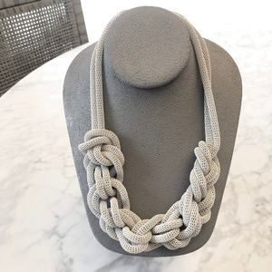 Urban Outfitters Knot Chain White necklace